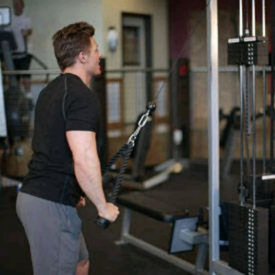 Rope straight arm Pull downs