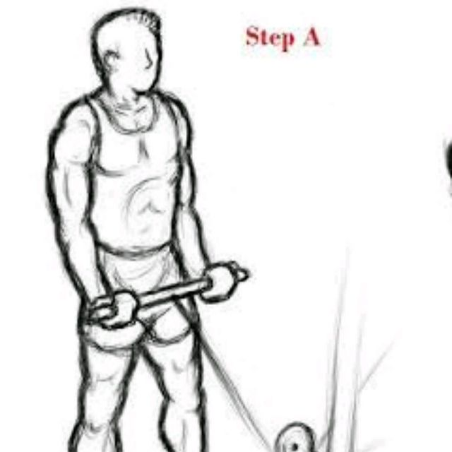 How to do: Straight Bar Cable Curl - Step 1