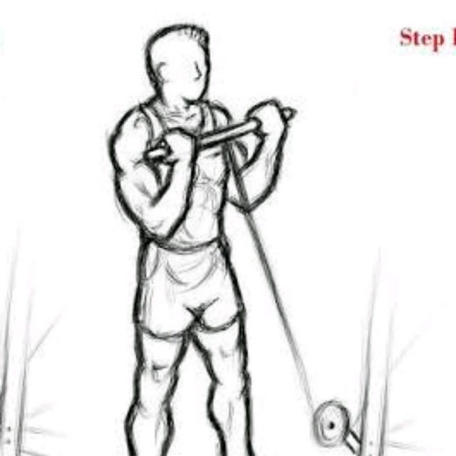 How to do: Straight Bar Cable Curl - Step 2