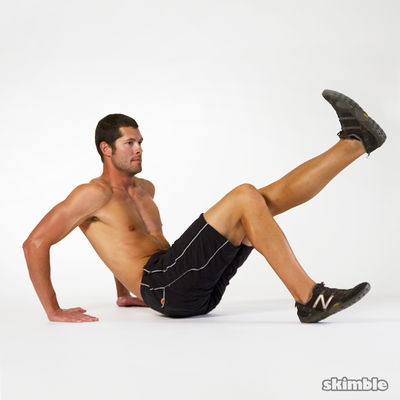 Dips with Leg Extension