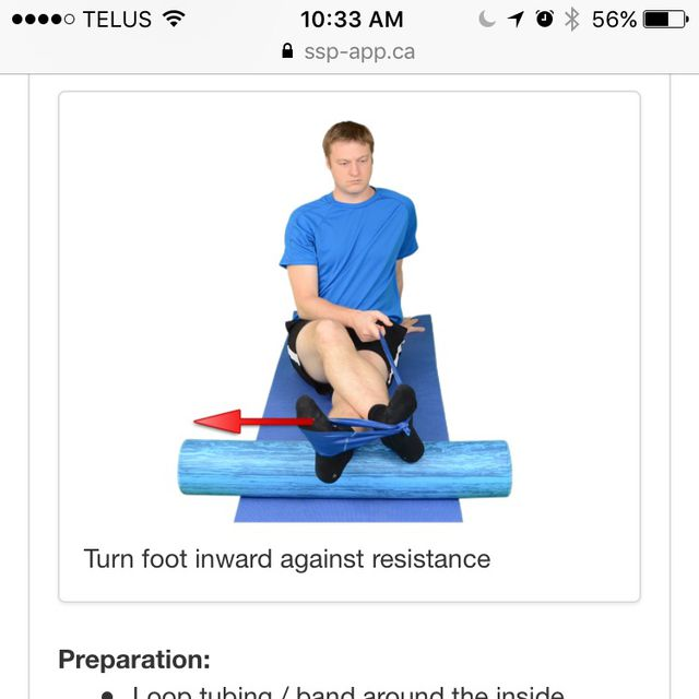 How to do: Ankle Inversion - Step 1