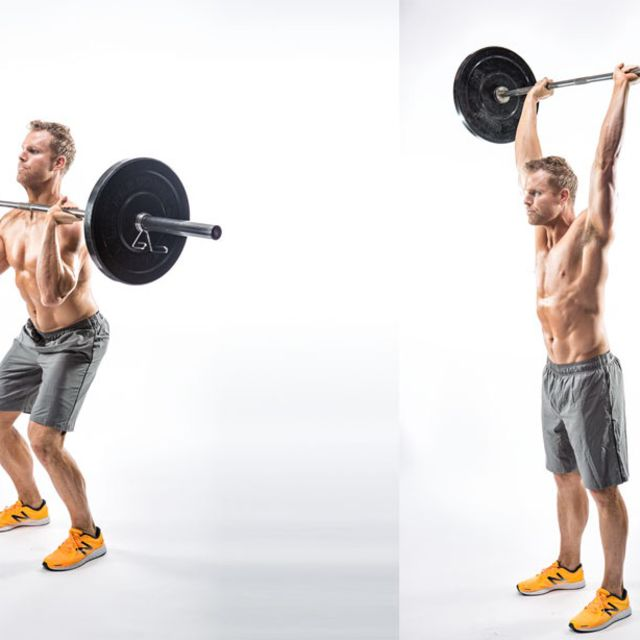 How to do: Barbell Push Press - Step 1