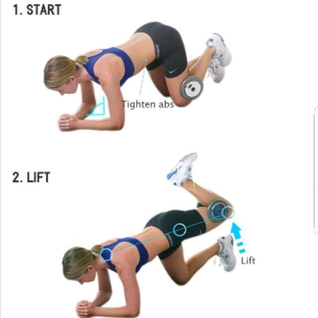 How to do: KNEELING DUMBBELL LEG LIFTS - Step 1