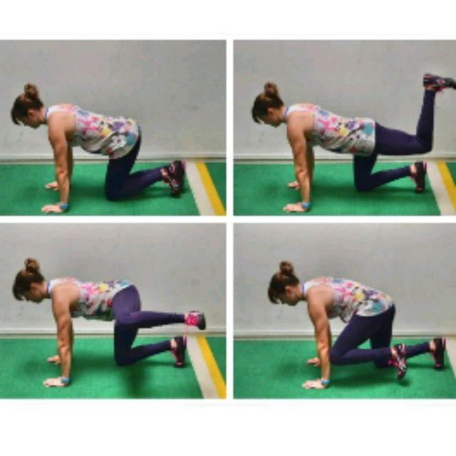 How to do: LEFT REAR & SIDE Donkey Kicks - Step 1
