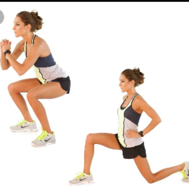 How to do: Squats To Lunges - Step 1