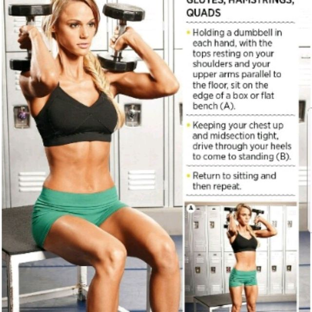 How to do: Weighted Box Squats - Step 1