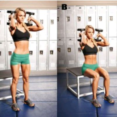Weighted Box Squats