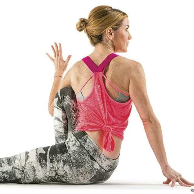 How to do: Marichi Pose - Step 1