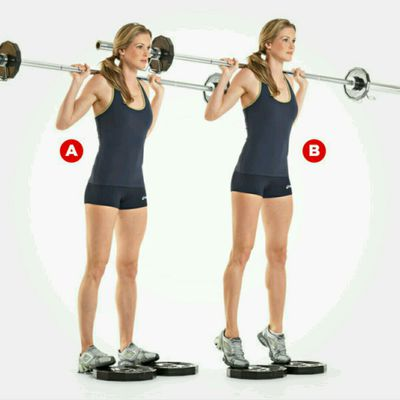 Barbell Calf Raise