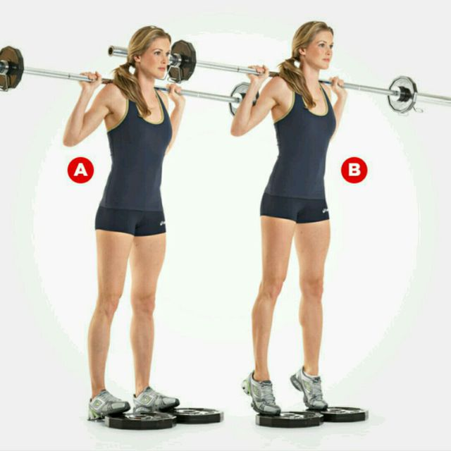 How to do: Barbell Calf Raise - Step 1