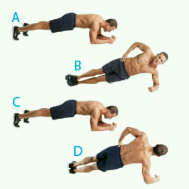 How to do: Plank Rolls - Step 1