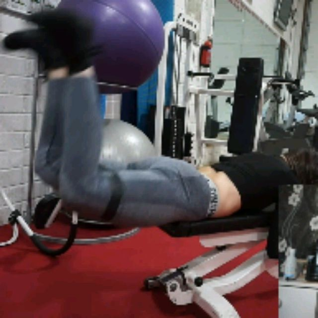 How to do: Bench Reverse Hip Thrusters With Band - Step 1