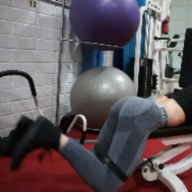 How to do: Bench Reverse Hip Thrusters With Band - Step 2