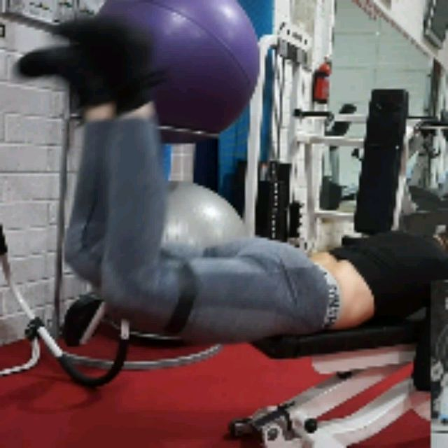 How to do: Bench Reverse Hip Thrusters With Band - Step 3