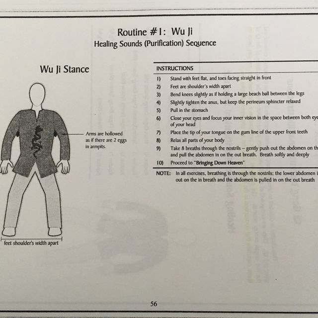 How to do: Wu Ji Stance - Step 2