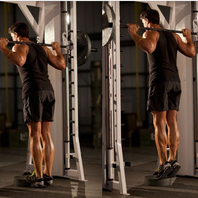 How to do: Smith Machine Calf Raises - Step 1
