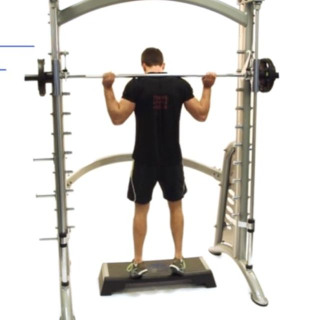 How to do: Smith Machine Calf Raises [Toes Out] - Step 2