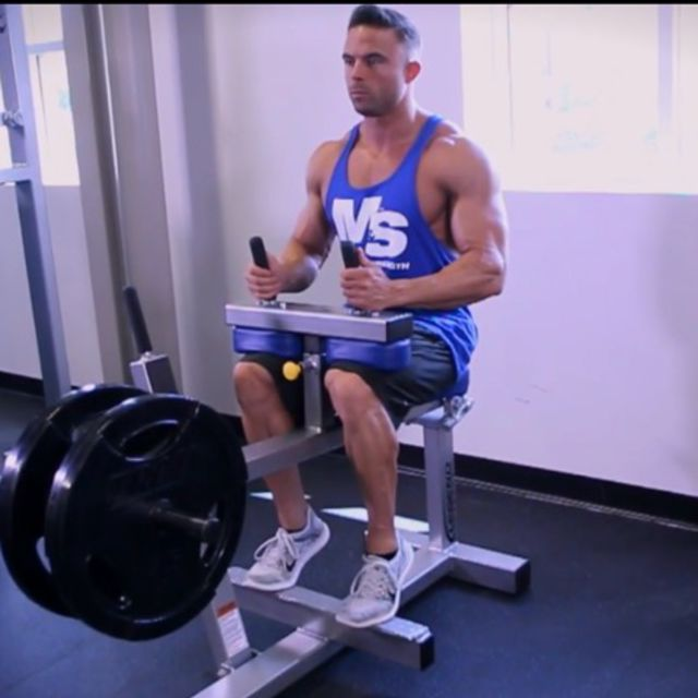 How to do: Seated Calf Raises [Toes Neutral] - Step 1