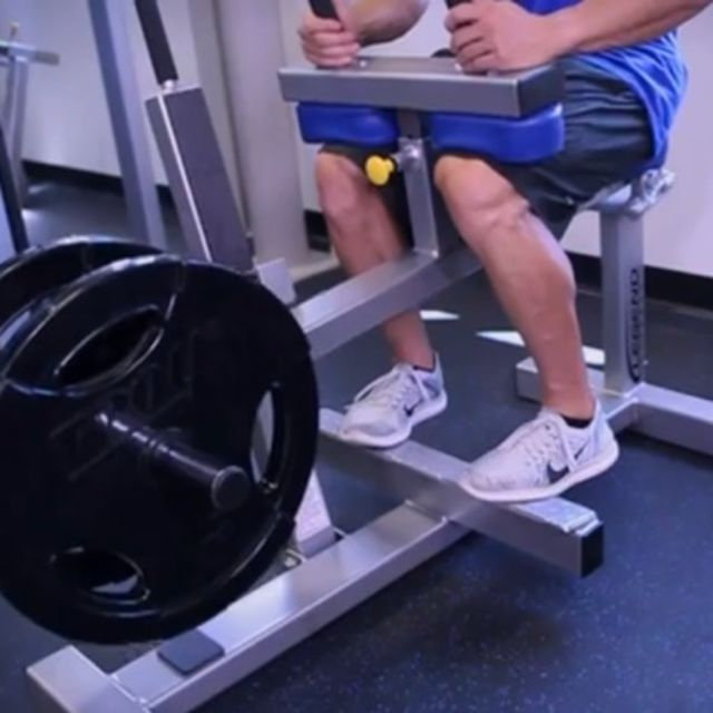 How to do: Seated Calf Raises [Toes In] - Step 1