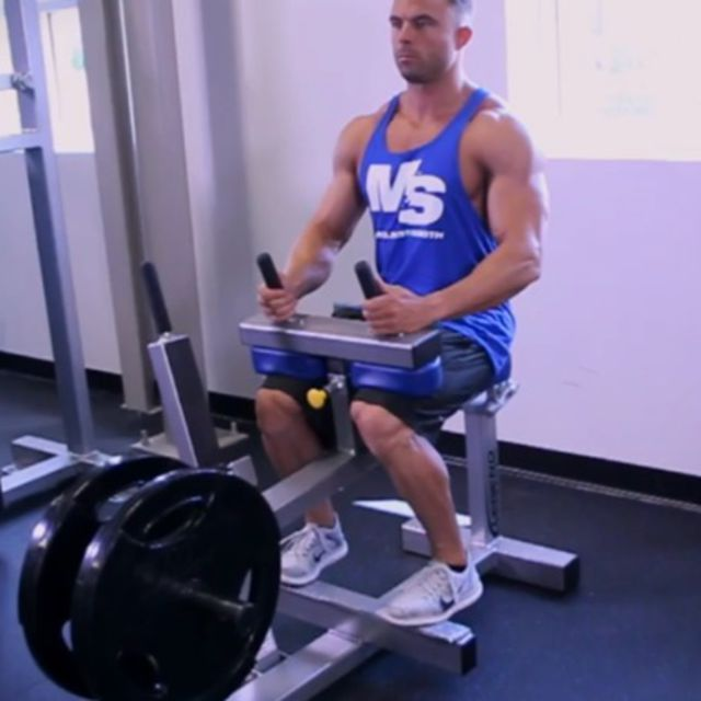 How to do: Seated Calf Raises [Toes In] - Step 2