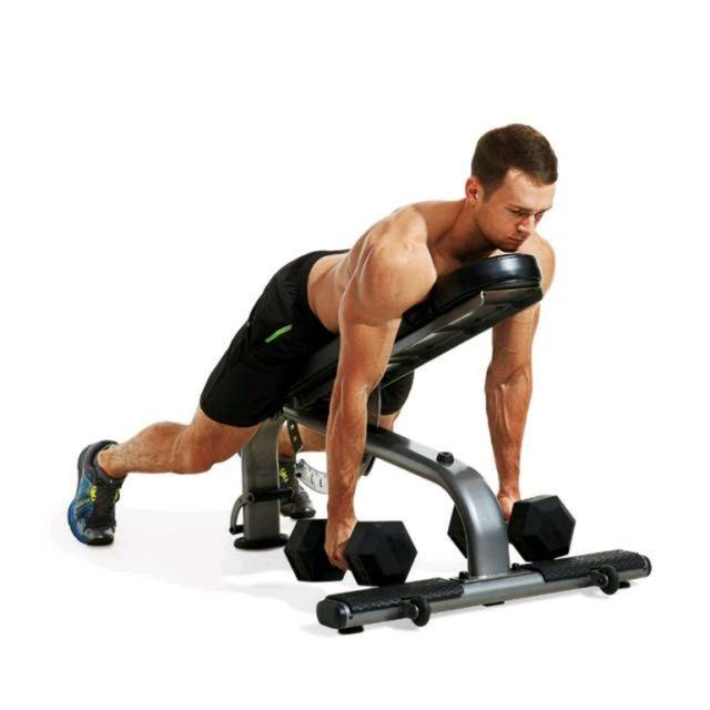 How to do: Incline Dumbbell Row - Step 1