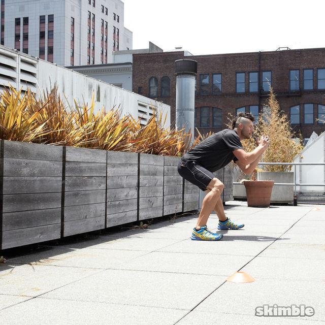 How to do: Side Lunge Shuffle Hops - Step 8