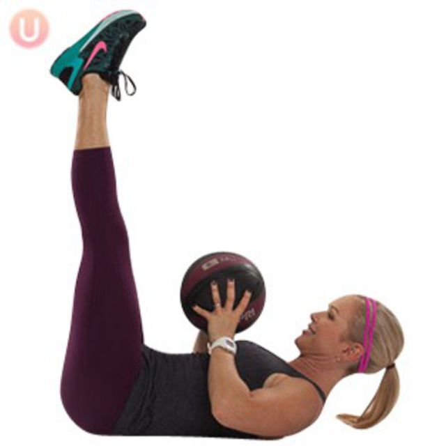 How to do: Toe Touches with Medicine Ball - Step 1