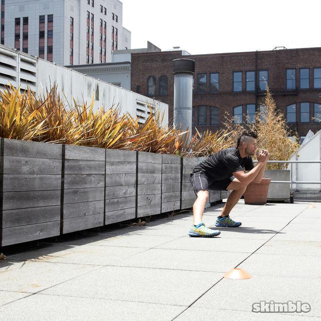 How to do: Side Lunge Shuffle Hops - Step 7