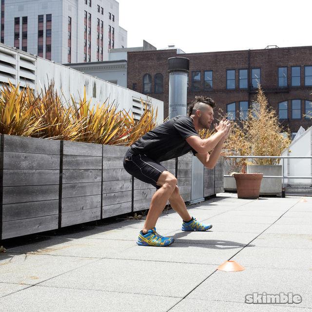 How to do: Side Lunge Shuffle Hops - Step 5