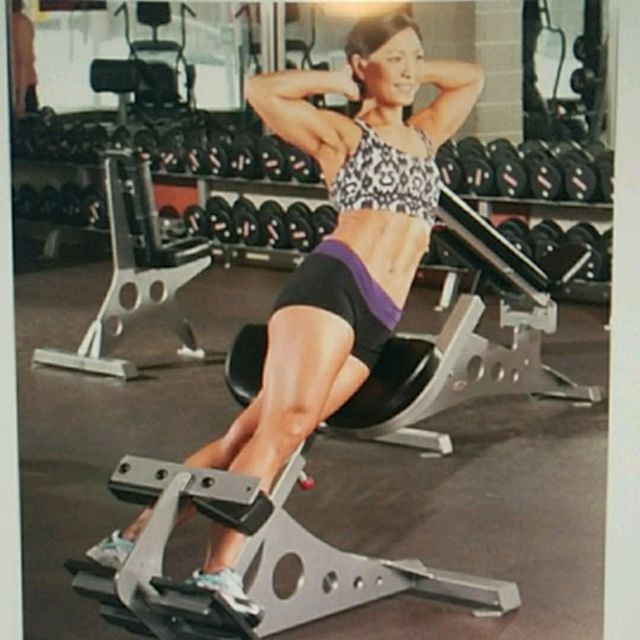 How to do: Right side abs on Back extension machine - Step 1