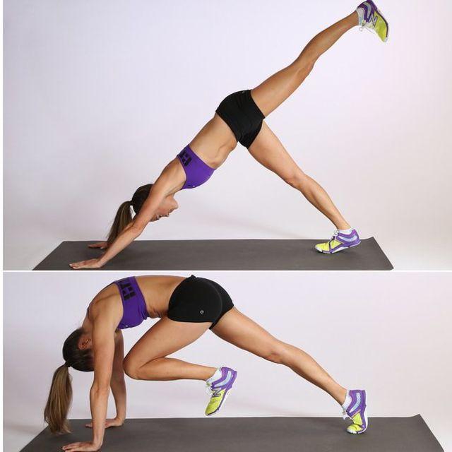 How to do: Downward Dog Crunch - Step 1