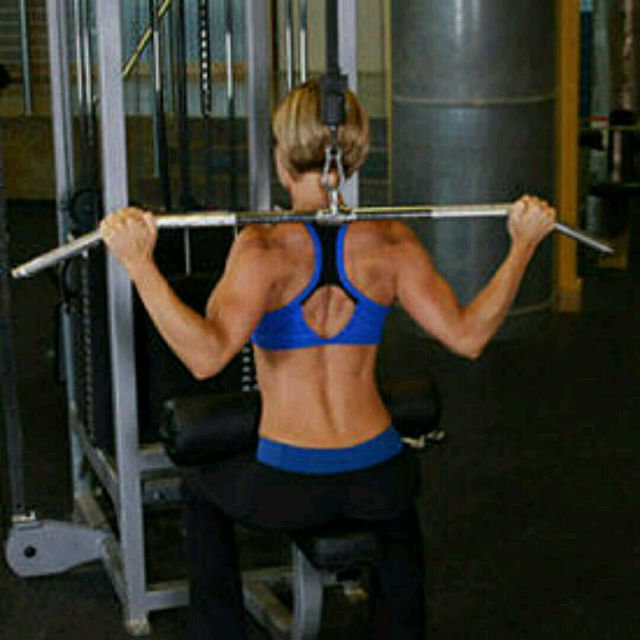 How to do: CM Sitting W Bar Lat Pulldown - Step 2
