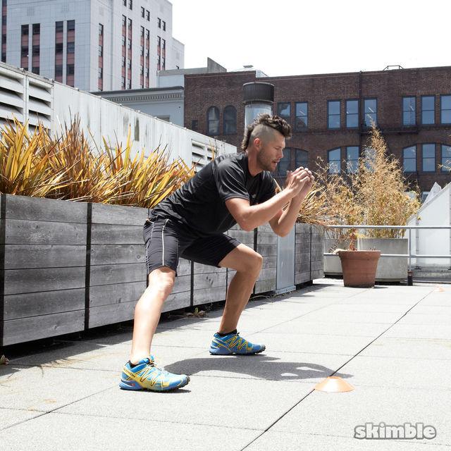 How to do: Side Lunge Shuffle Hops - Step 1