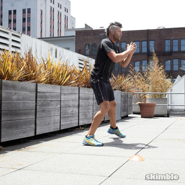 How to do: Side Lunge Shuffle Hops - Step 3