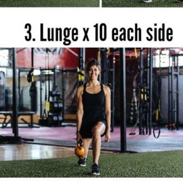 How to do: Kettlebell Lunges - Step 1