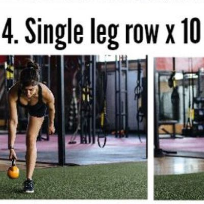 Kettlebell Single Leg Row