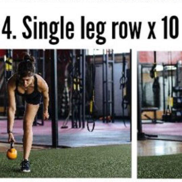 How to do: Kettlebell Single Leg Row - Step 1