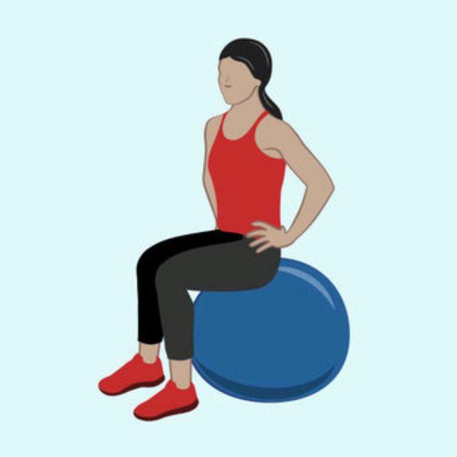 How to do: Pelvic Clocks on Stability Ball - Step 1