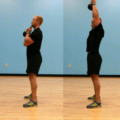 Kettlebell Squat And Press