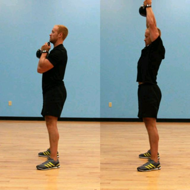 How to do: Kettlebell Squat And Press - Step 2