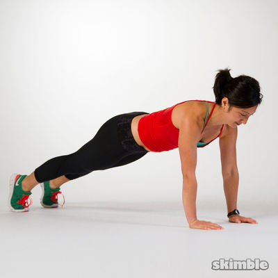 Full Plank and Knee Draw