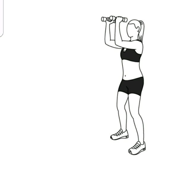 How to do: Elbow Squeeze To Shoulder Press - Step 2