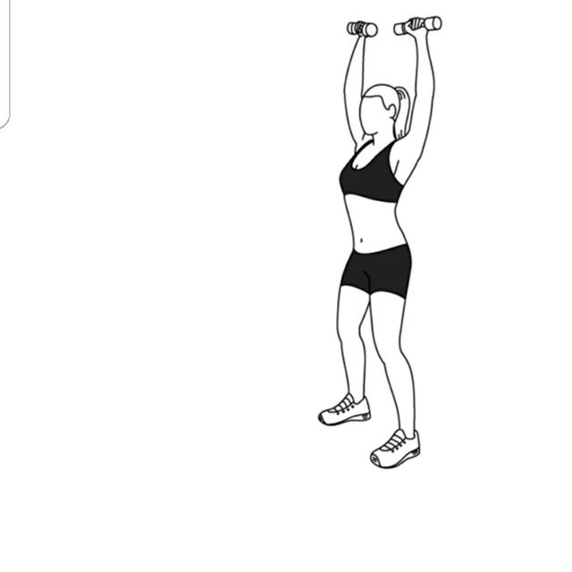 How to do: Elbow Squeeze To Shoulder Press - Step 3