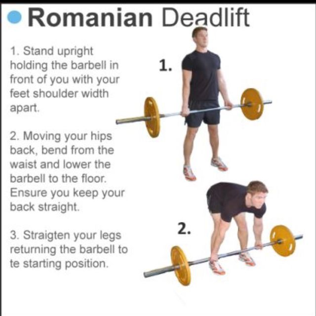 How to do: Romanian Dead Lift - Step 1