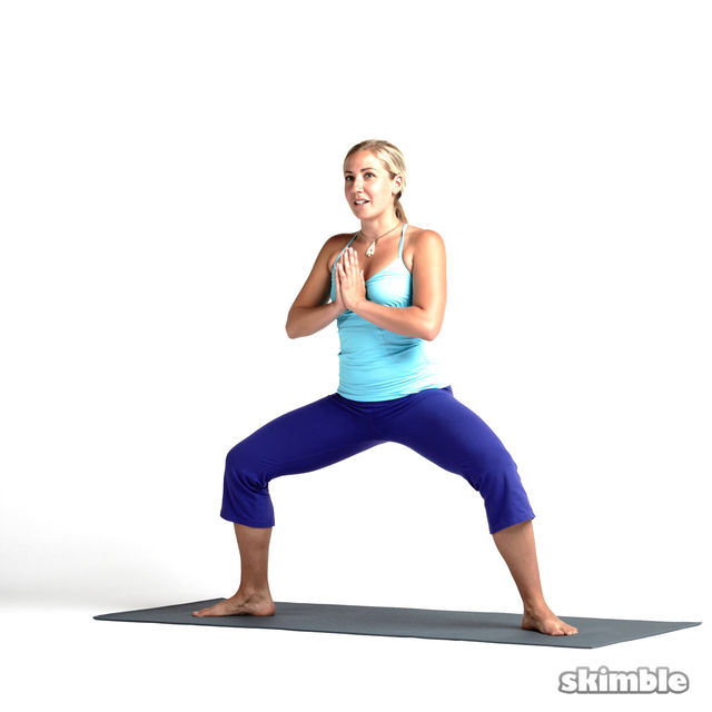 How to do: Horse Stance with Heel Ups - Step 6