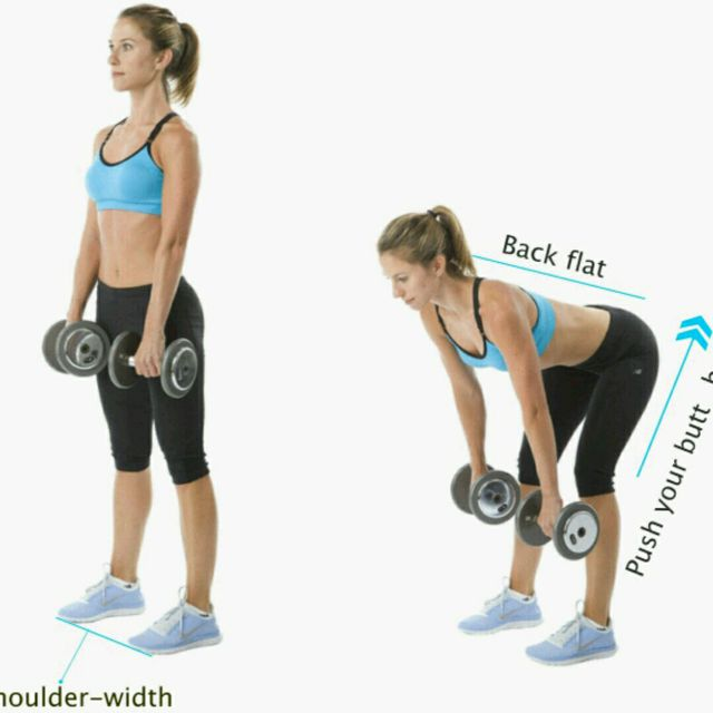 How to do: Stiff-Legged Dumbbell Deadlift - Step 3
