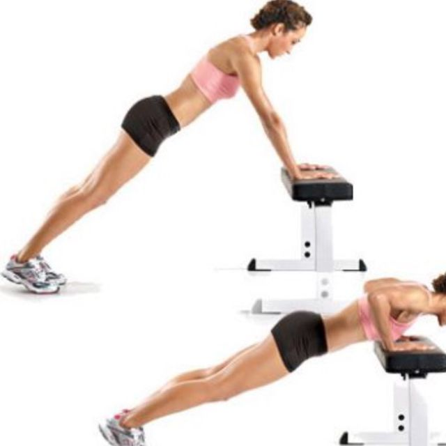 How to do: Incline Bench Push Up - Step 1