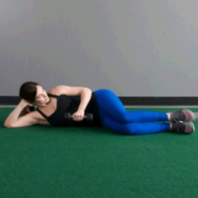 How to do: Side Lying External Rotation - Step 1