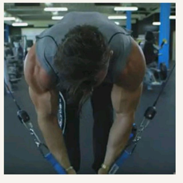 How to do: Bent Over Cable Row - Step 2