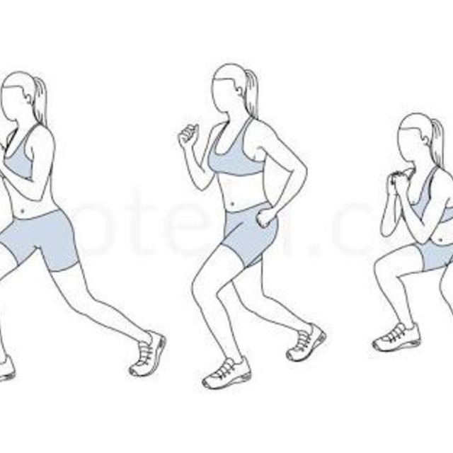 How to do: Flutter Kick Squats - Step 1